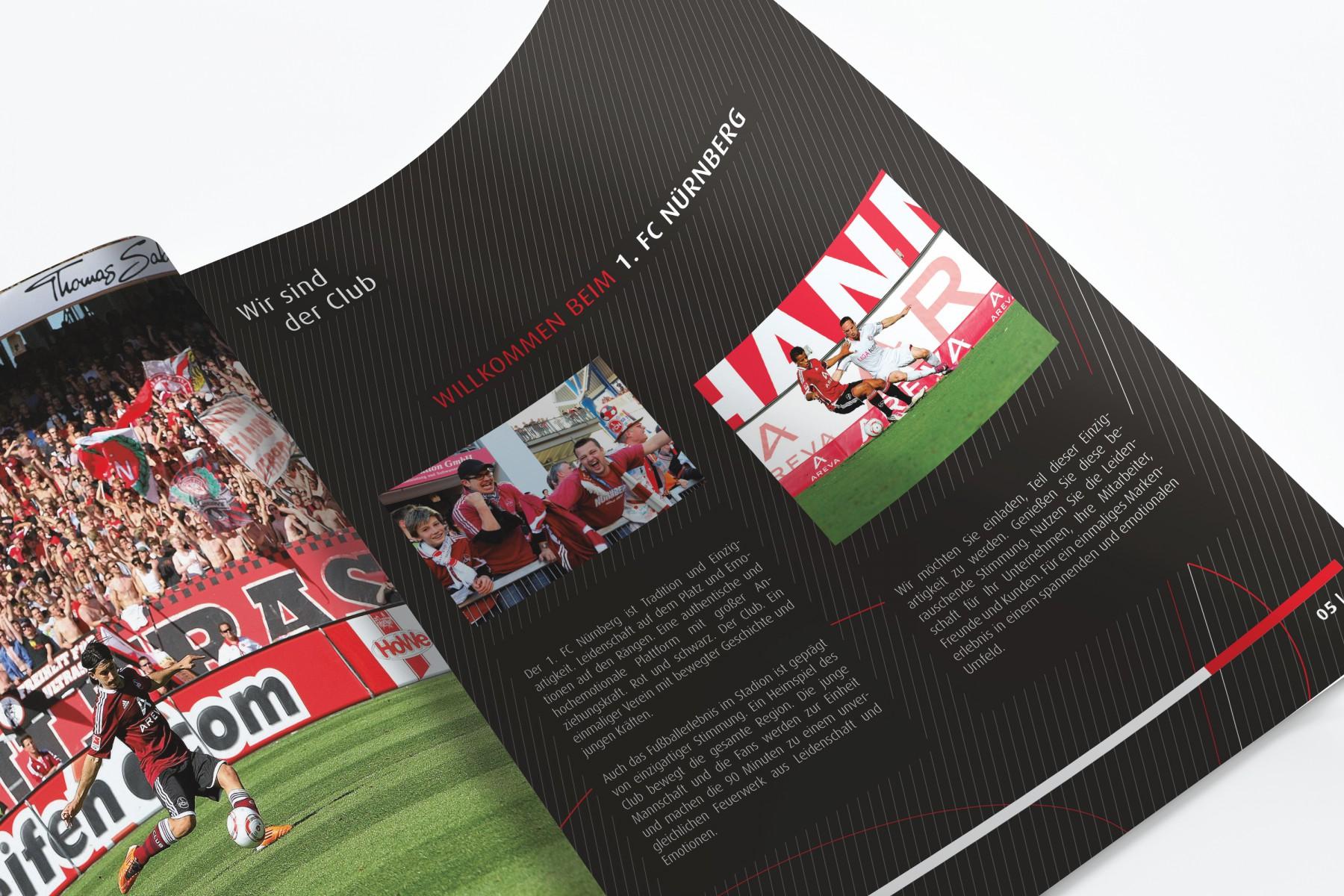 Hospitality-Broschüre 1. FC Nürnberg/SPORTFIVE