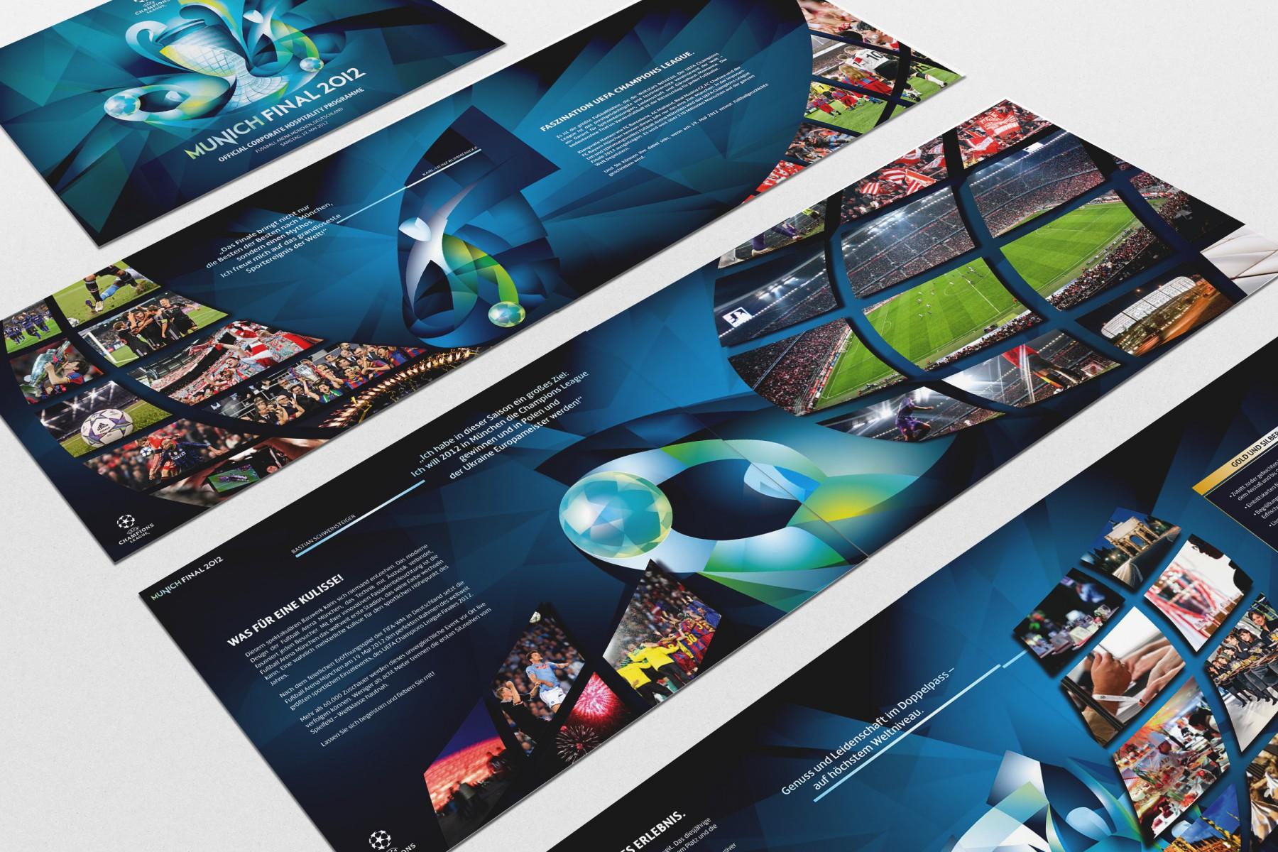 Hospitality-Broschüre Champions League Finale UEFA /SPORTFIVE
