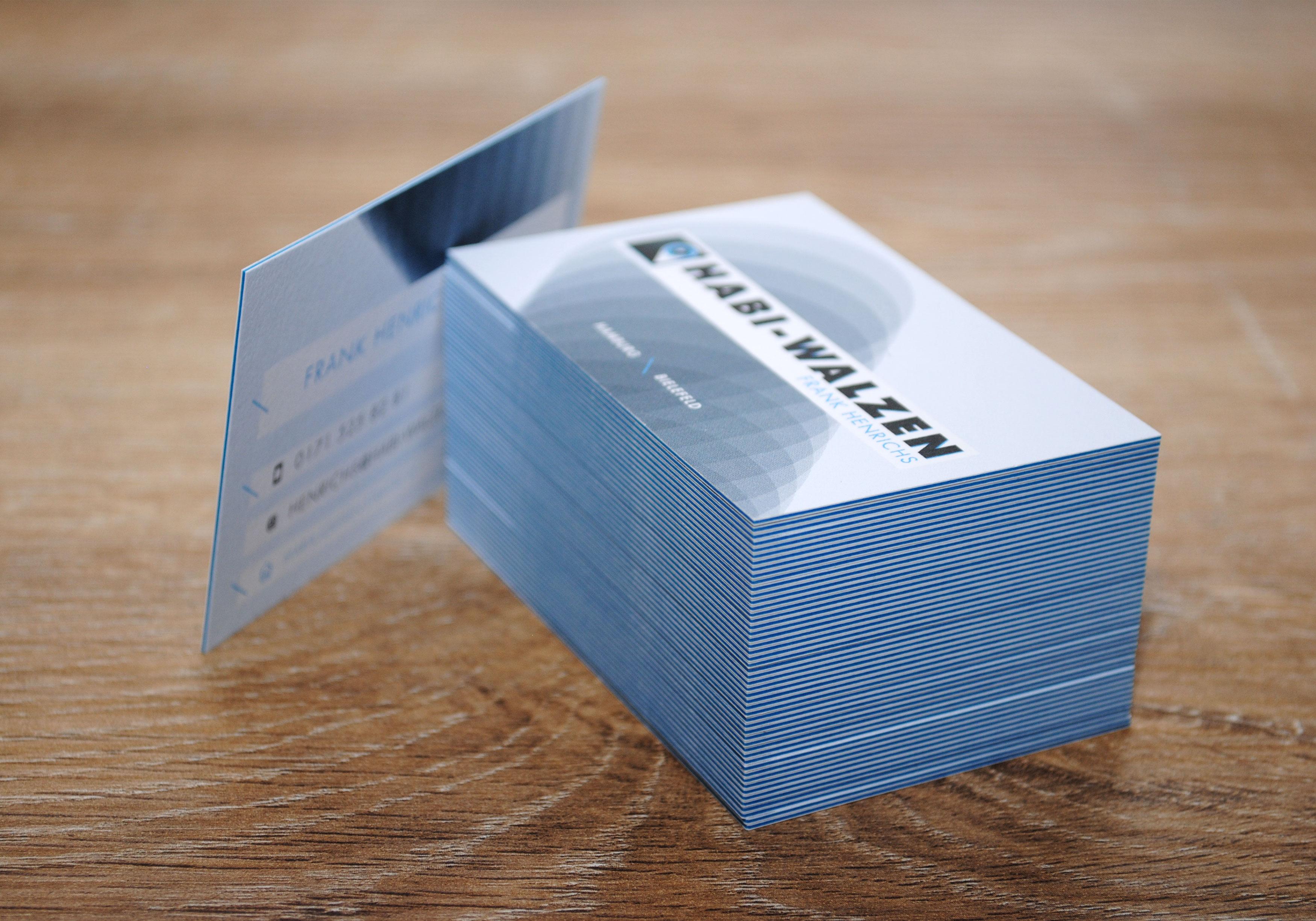 HABI-Walzen Visitenkarten
